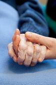 Cuidar de idosos — Foto Stock