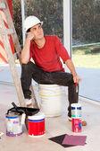Zmęczony malarz — Zdjęcie stockowe