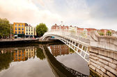 Hapenny Bridge, Dublin Ireland — Stock Photo