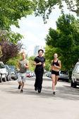 Běží na ulici — Stock fotografie