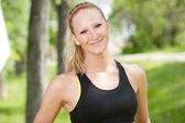 Close-up of woman in sportswear — Stock Photo