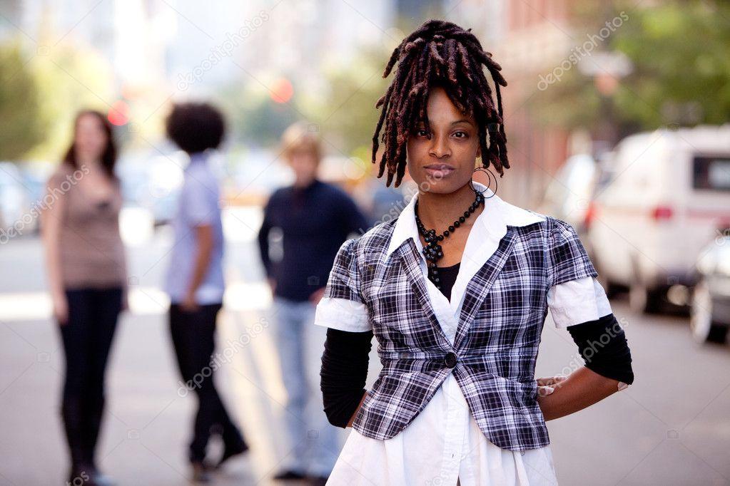 фото красивой афроамериканки