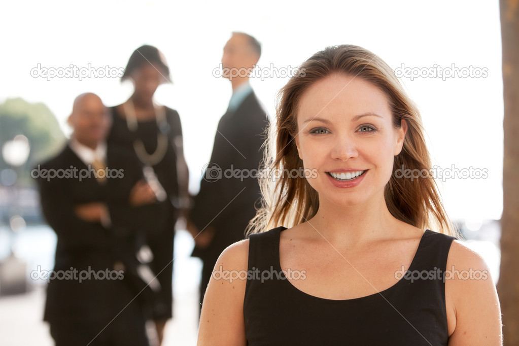 An attractive caucasian business woman — Stockfoto #5702660