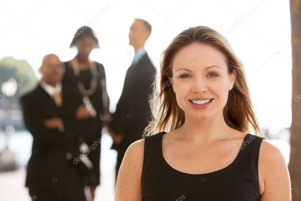 An attractive caucasian business woman — Foto de Stock   #5702660