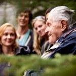 Elderly Man Group — Stock Photo