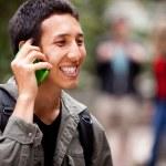 Talk Phone Outdoor — Stock Photo