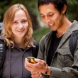 GPS Camping Friends — Stock Photo