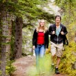 Stock Photo: Camping Hiking Man and Woman