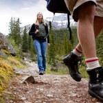 Woman on Mountain Hike — Stock Photo #5710853