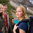 Hiking Friends Outdoor — Stock Photo