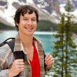 Stock Photo: Mountain Hike Portrait