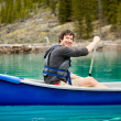 Man Canoe Portrait — Foto Stock
