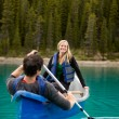 Canoe Couple — Stock Photo