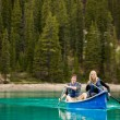 Couple Portrait in Canoe — Foto Stock