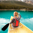 Canoe Woman Detail - Stock Photo