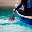 Canoe Paddle Detail - Stock Photo