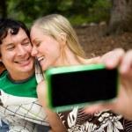 Self Portrait Outdoor Couple — Stock Photo
