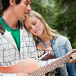 Man playing the guitar — Stock Photo #5711104