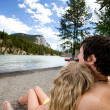 Couple Relax Banff - Stock Photo