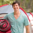 Happy Male Camper — Stock Photo #5711332
