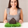 Happy House Woman — Stock Photo #5713028