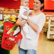 Grocery Store Baby — Stock Photo
