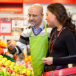 Grocer and Customer — Stock Photo #5714235