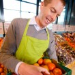 Happy Grocery Store Owner — Stock Photo #5714317