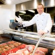 Welcome Butcher Shop — Stockfoto #5714756