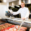 Stock Photo: Welcome Butcher Shop