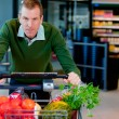 Portrait of a Man in Supermarket — Stock Photo