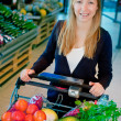 Woman in Supermarket — Stock Photo #5716290