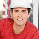 Construction Worker Portrait — Stock Photo