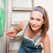 woman painting — Stock Photo