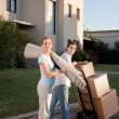 Couple Moving — Stock Photo