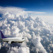 Stock Photo: airplane in flight
