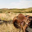 Western Saddle - Stock Photo