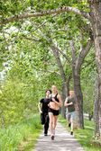 Friends jogging during morning time — Stock Photo
