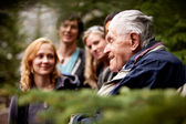 Elderly Man Group — Stock Photo