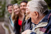Elderly Guide — Stock Photo