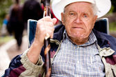 Angry Old Man — Stock Photo
