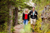 Camping Hiking Man and Woman — Stock Photo