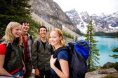 Camping Friends in Mountains — Stock Photo