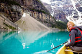Woman Canoeing Portrait — Stock Photo