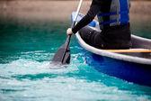 Canoe Paddle Detail — Stock Photo