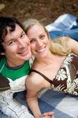 Happy Couple Picnic — Foto Stock