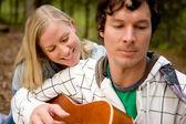 Outdoor Guitar Couple — Stock Photo