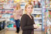 Grocery Shopping Young Woman — Stock Photo