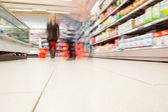 Blurred view of in supermarket — Stock Photo
