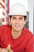 Construction Worker Portrait — Stock Photo